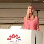 国際女性会議WAW!でスピーチするイバンカ米国大統領補佐官